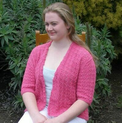 CARDI SALE - Aussie alpaca Cyclamen pink Lacework Ladies Cardi, Spring Special, normally $300.00