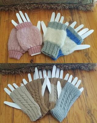 MID-WINTER SPECIAL 1/2 PRICE!  Australian Alpaca Mittens, fingerless open end.  Luxuriously soft and durable.  Ideal to keep working and warm! Aussie designer knits. Normally AU$30.00, now only ...
