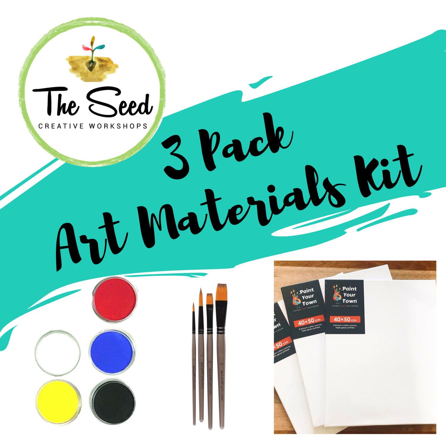 Painters Pack - 3 Canvases