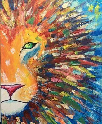 Digital painting class - Lion
