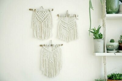 Small wall hanging macrame workshop - Saturday 22 August - 1-3pm