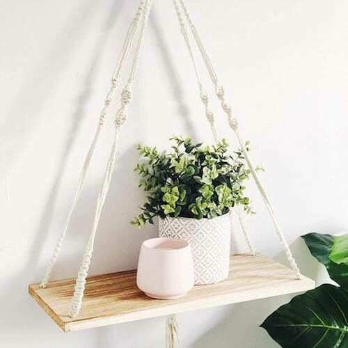 Macrame shelf workshop - Tuesday 10 November, 6.30-9pm