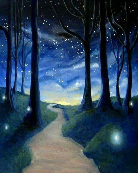 Digital painting class - Midnight stroll
