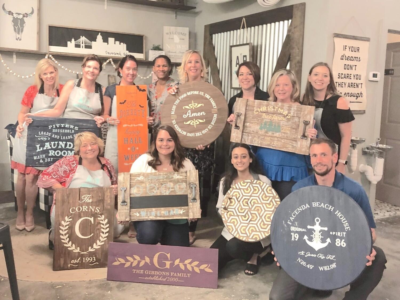 DIY Wood sign Workshop - Thursday 27 August, 6-9pm