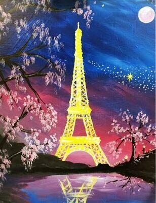 Digital painting class - Eiffel Tower