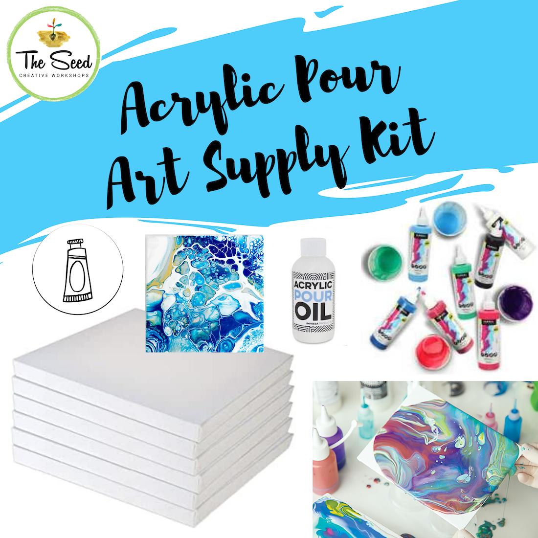 Acrylic Pour Art Supply Kit