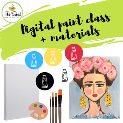 Frida Digital painting class + materials