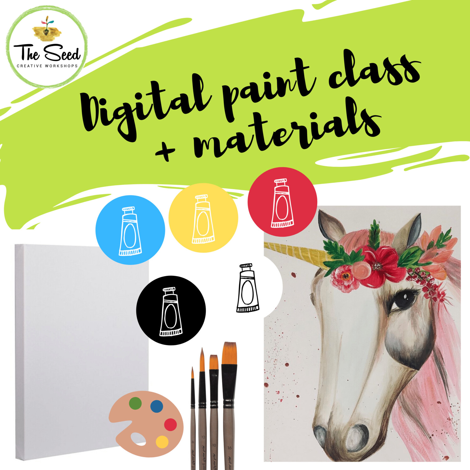Unicorn Digital painting class + materials