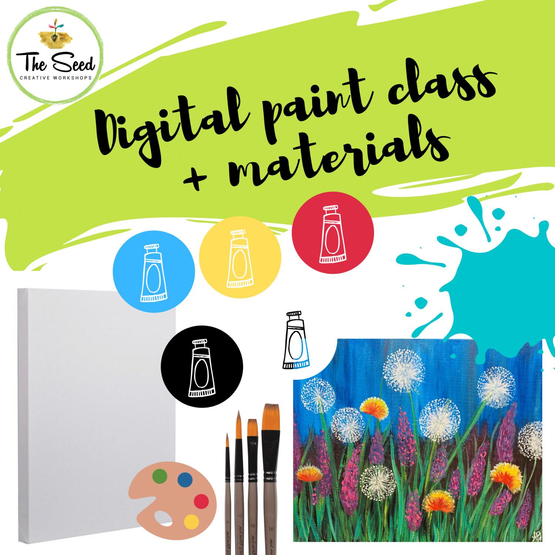 Dandelions Digital painting class + materials