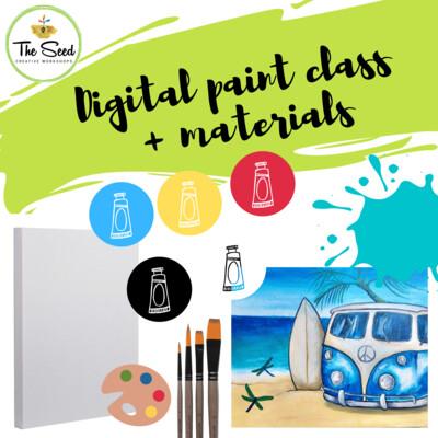 Beach Time Digital painting class + materials