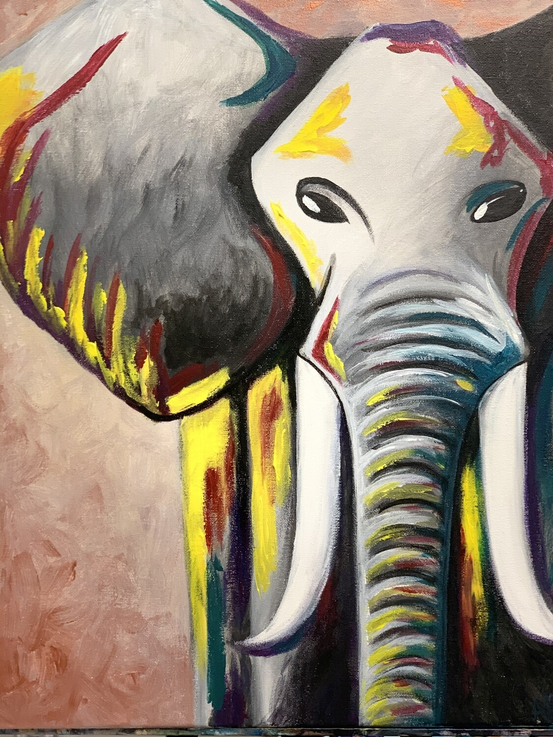 Digital painting class - Elephant