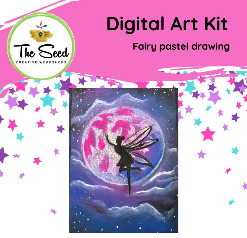 Fairy pastel drawing! - KIDS digital art class