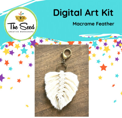 Macrame feather - Kids/Teens digital art class