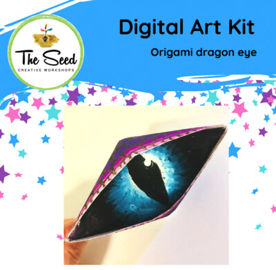 Cool dragon origami eye! - Kids/Teens digital art class