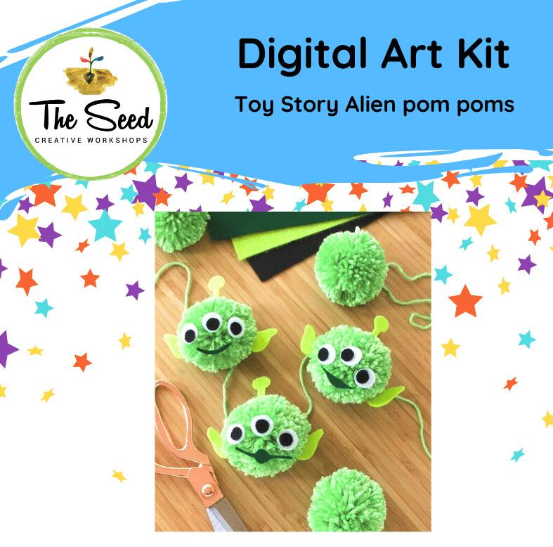 Toy Story alien pom poms - Kids/Teens digital art class
