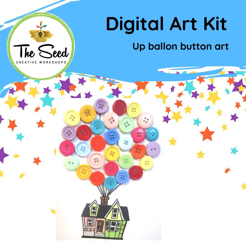 Up balloon button house! - Kids/Teens digital art class
