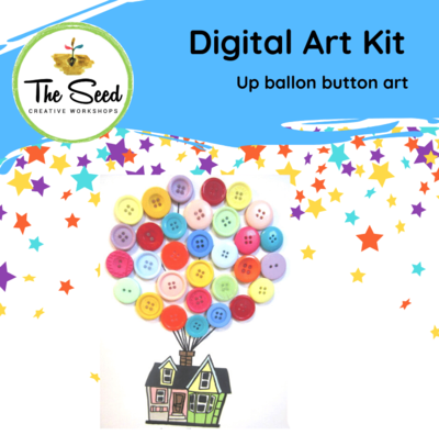 Up balloon button house! - Kids/Teens digital art class