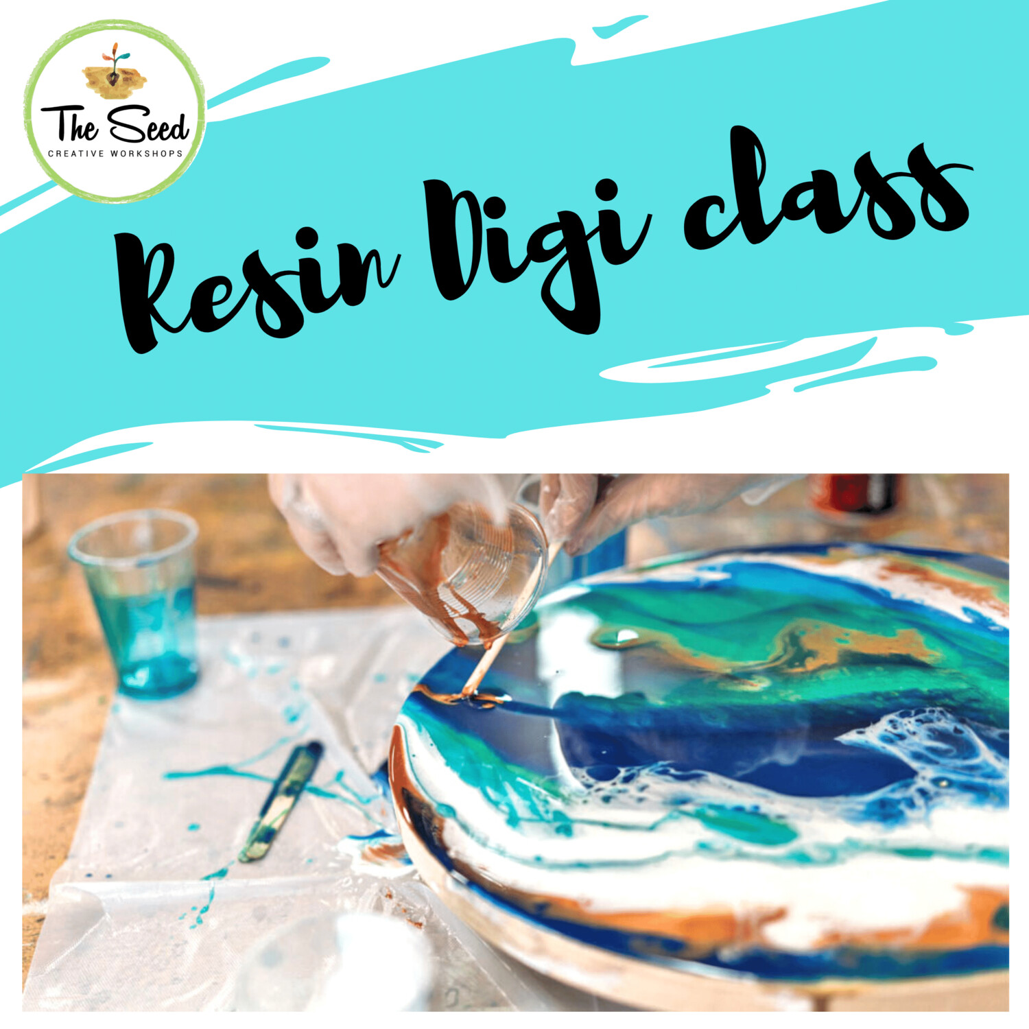 Resin digi class - instructions with video tutorial