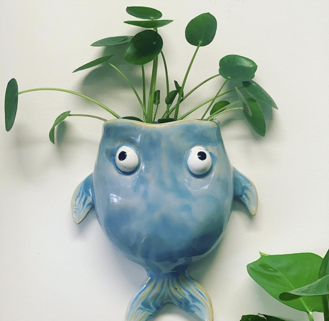 Clay fish plant holder workshop - Saturday 29 August, 1-3.30pm