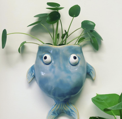 Clay fish plant holder workshop - Monday 10 August  11am - 1.30pm