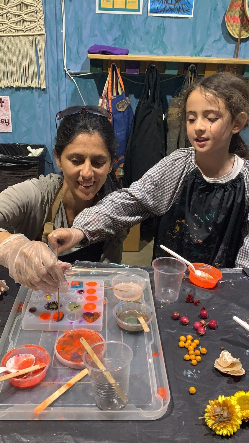 Parent & Child Resin jewellery workshop - Saturday 12 Sept, 11am - 12.30pm