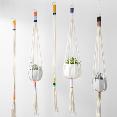 Contemporary macrame plant hanger workshop - Wednesday 14 October, 1-3pm