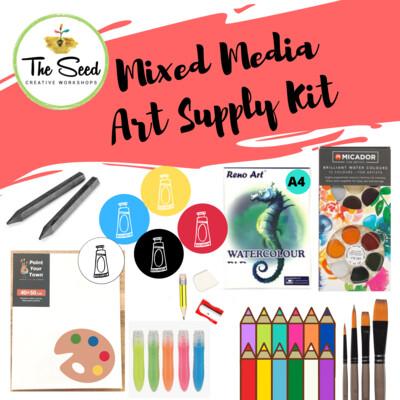 Mixed Media Art Supply Kit