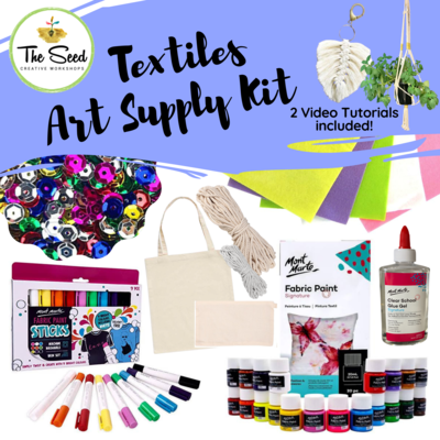 Textiles Art Supply Kit & Instructional Lessons!