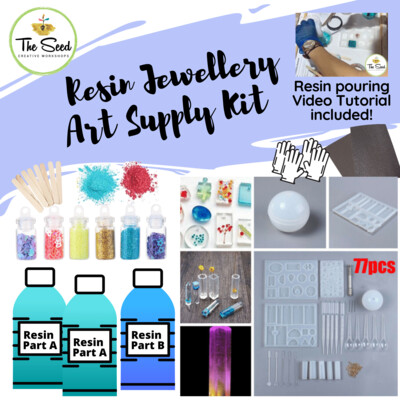 Resin Jewellery Supply Kit -  & Instructional Lessons!