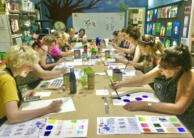 Contemporary Watercolour For Beginners - Wednesday 19th May 7 - 9pm