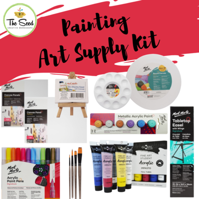 Painting Art Supply Kit & Instructional Lessons!