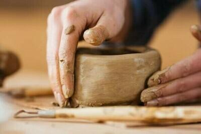 Hand-building pottery workshop. 30th April 10-12pm
