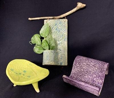 Slab & Texture Pottery Workshop. 24th April 2-4pm
