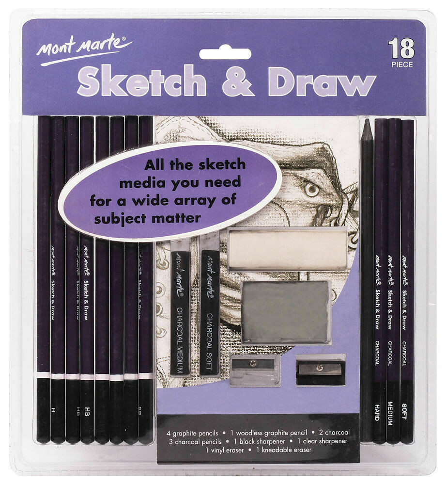 Mont Marte Sketch and Draw 18pc Set