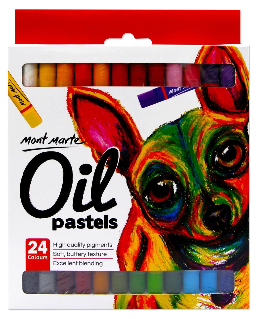 Mont Marte Oil Pastels - 24 Pack