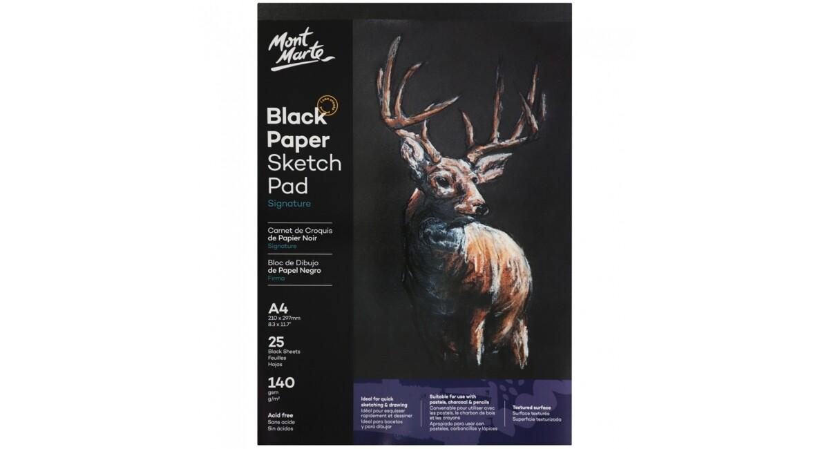 Mont Marte A4 Black Paper Sketch Pad
