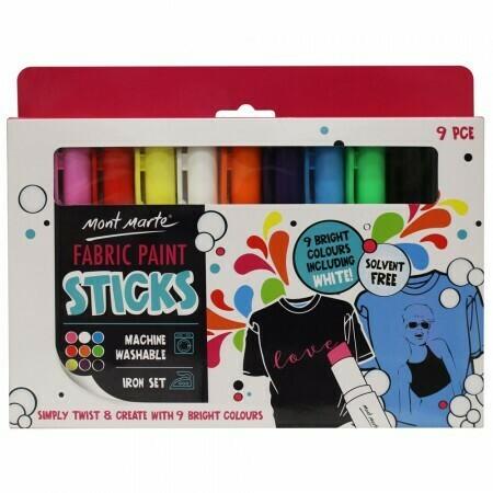 MM Fabric Paint Sticks 9pc