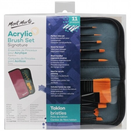 MM Brush Set in Wallet 11pc - Acrylic