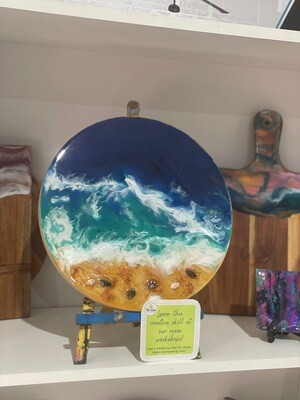 Beach Resin Pouring Workshop - Saturday 7th August 2-4pm