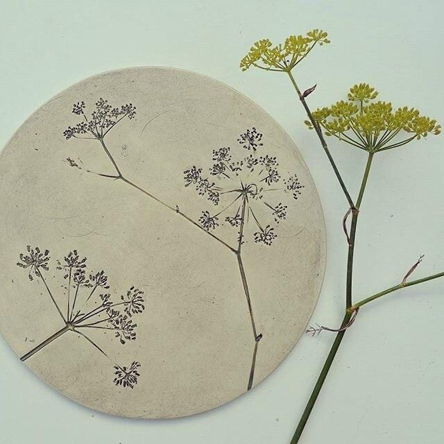 Handbuilt Leaf Impressed Platter - Friday 8th October 2-4pm