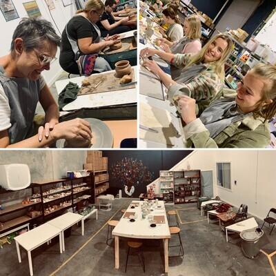 Slip, Spin & Sculpt! An 8 week clay course Thurs. 22nd July
