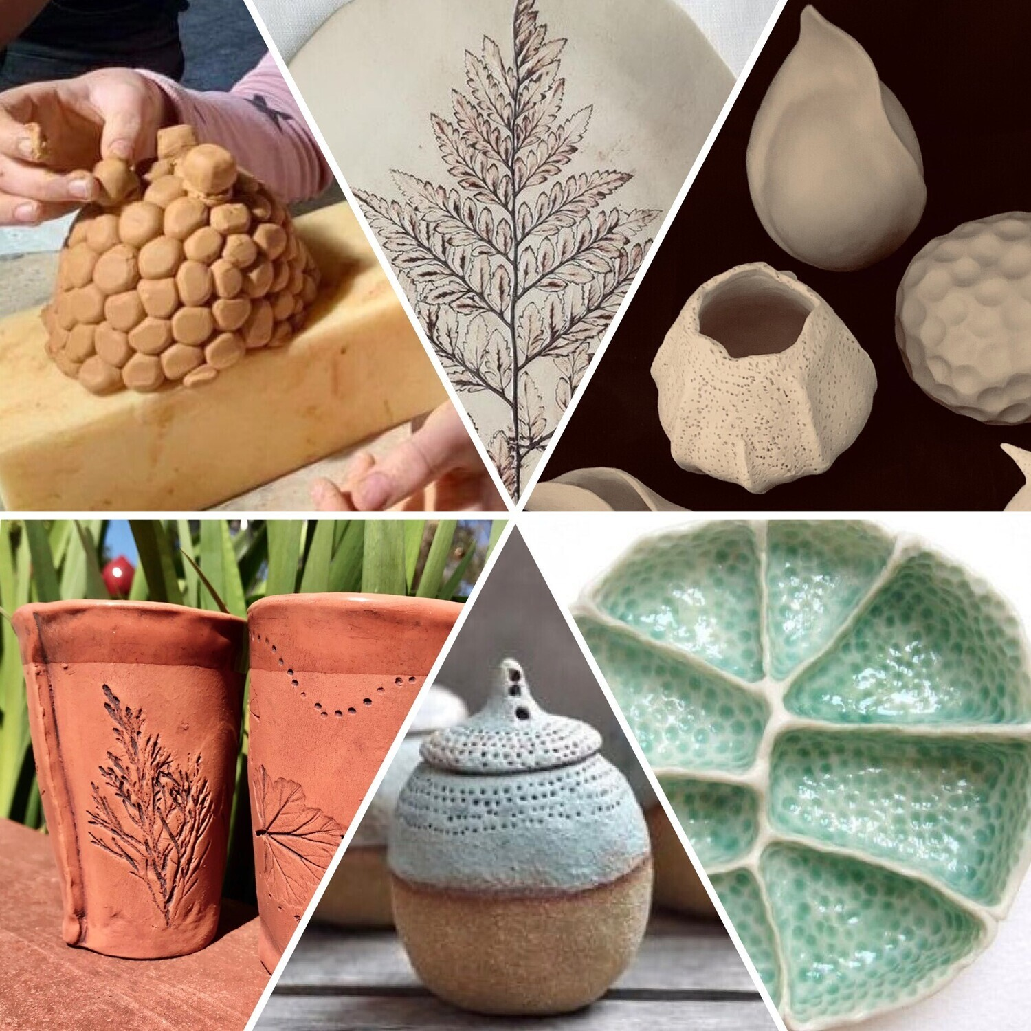 Hand Building Pottery Workshop. 18th June 2-4pm