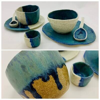 Clay Cup, Saucer & Spoon - Saturday 14th August 2-4pm & 28th August 12:30-1pm