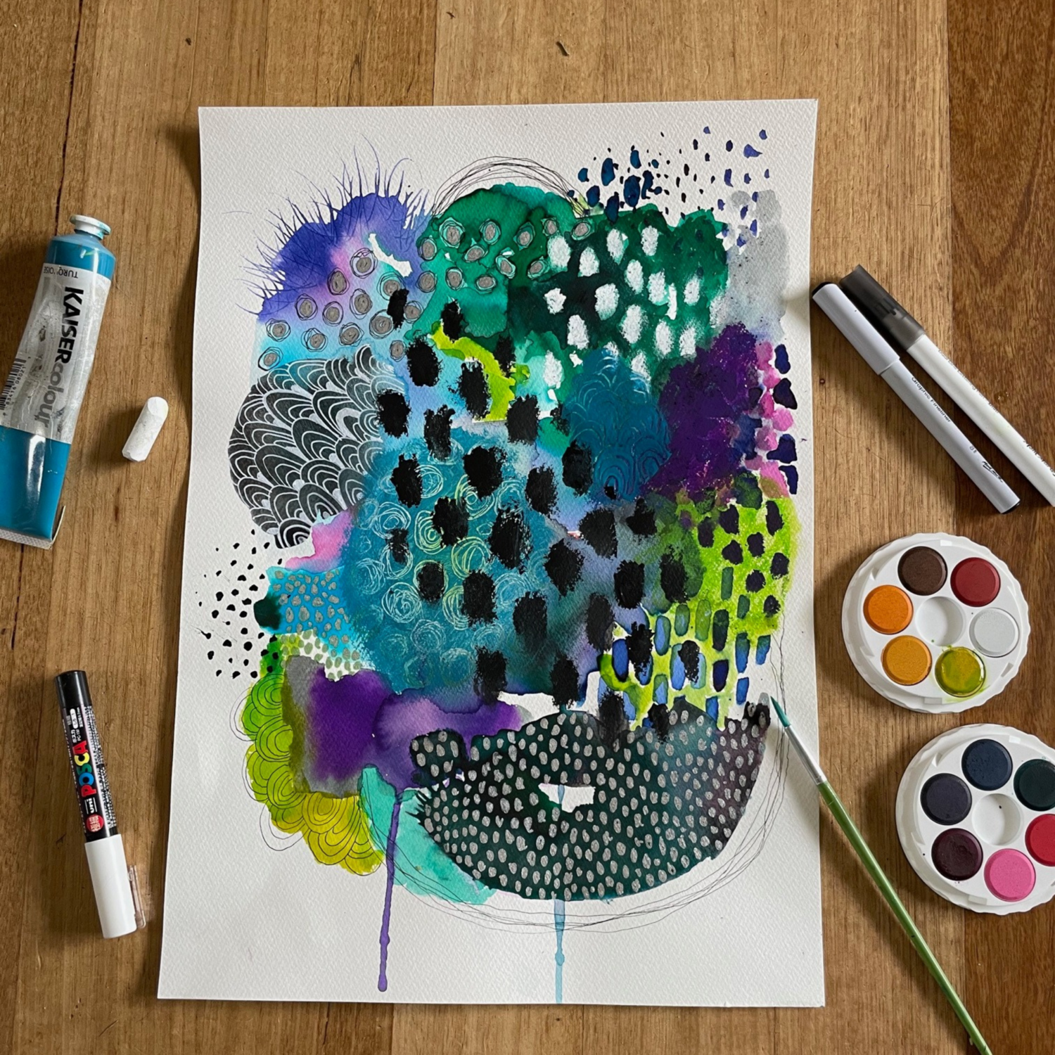 Abstract Watercolour Workshop - Sunday 24th October, 2pm - 4pm
