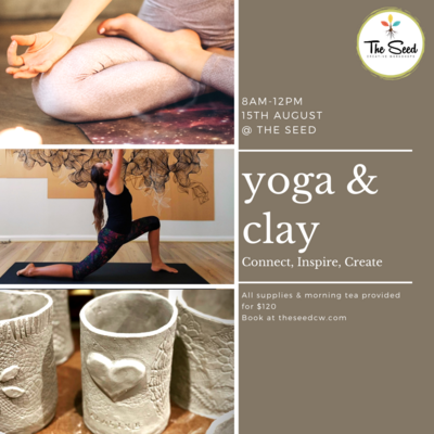 Yoga and Clay Day - 15th August 8am - 12pm