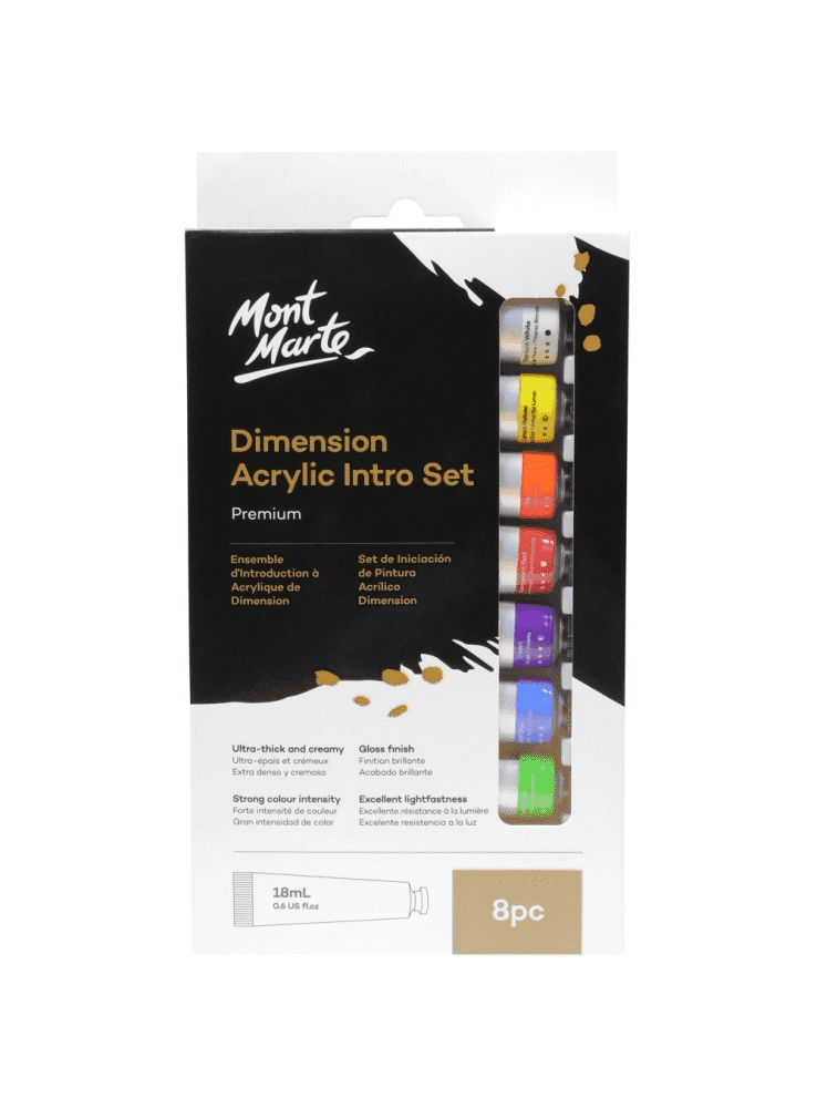 Mont Marte Dimension Acrylic Intro Set 8pc x 18ml
