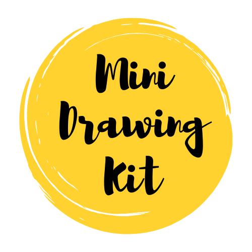 MINI Drawing Art Supply Kit & Instructional Lessons!