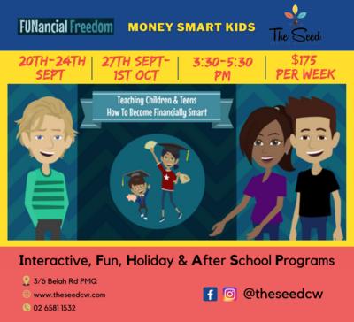 Money Smarts Kids Program: 27th-1st Oct. 3:30-5:30pm