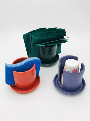 Sponge, cup or napkin holder