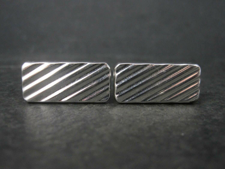 Classic Vintage Silver Swank Cufflinks
